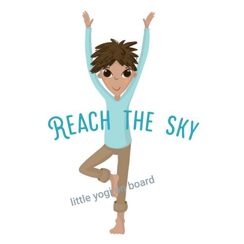 Yoga Poster 'Reach the sky'