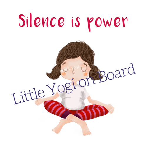 "Yoga Poster ""Silence is Power"""