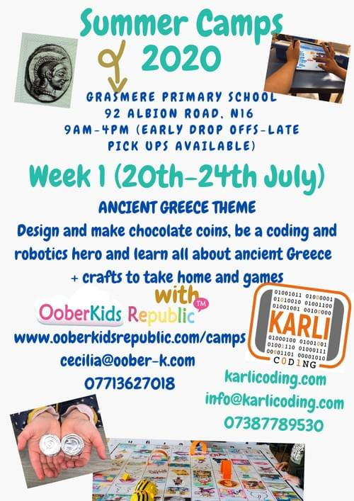 Shopping and Coding with the Greeks - Daily Pass  Tuesday 21st July