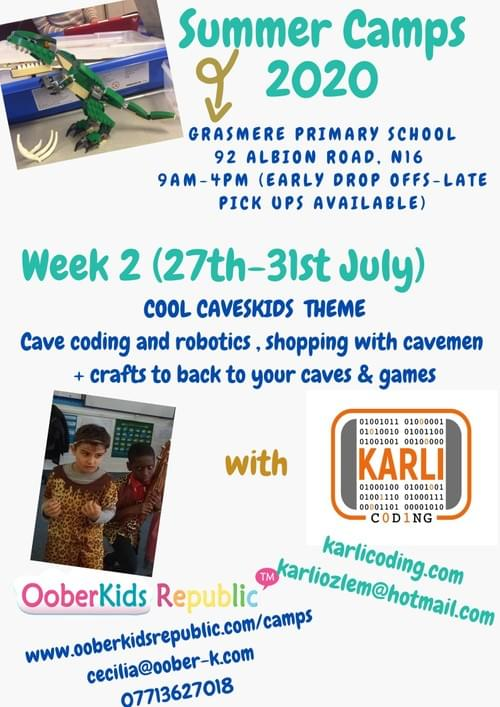 Shopping and Coding with Cave Kids - Daily Pass  Wednesday 29th July