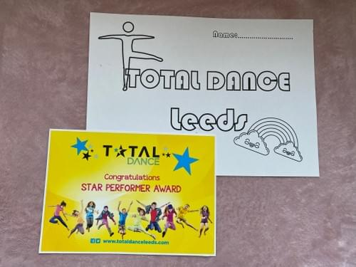 Total Dance certificate and Competition (Closing date for entries 30th May)