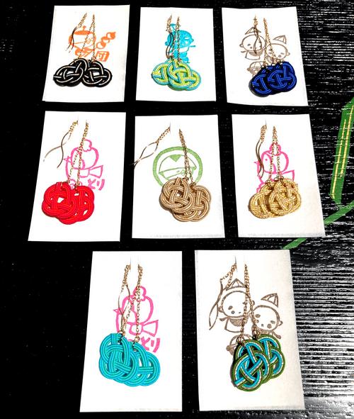 ぶらり Burari ピアス Earrings×3色(エメラルドG/ベージュ/黒)
