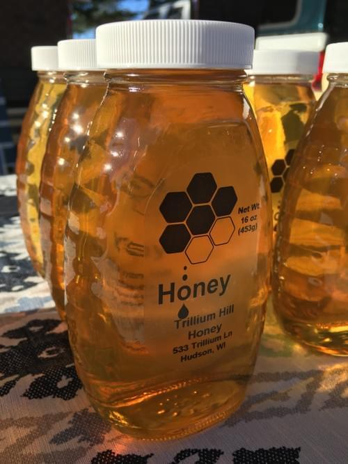 Raw Honey, Glass Jar