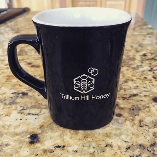 Trillium Hill Honey Diner Mug with Honey Dipper