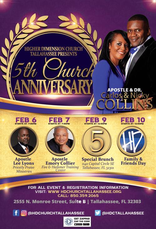 5th Church Anniversary Special Brunch