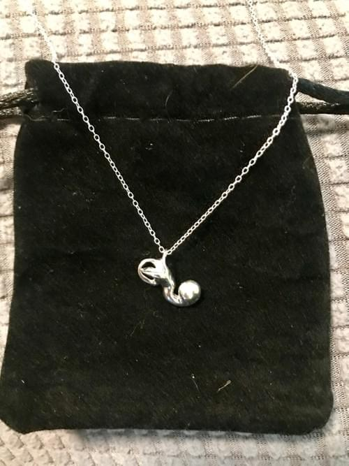 Sterling Silver Inner Ear Necklace