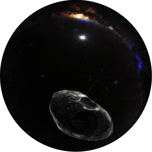 Closeup of an Asteroid