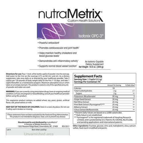 nutraMetrix OPC-3 - 30 Servings