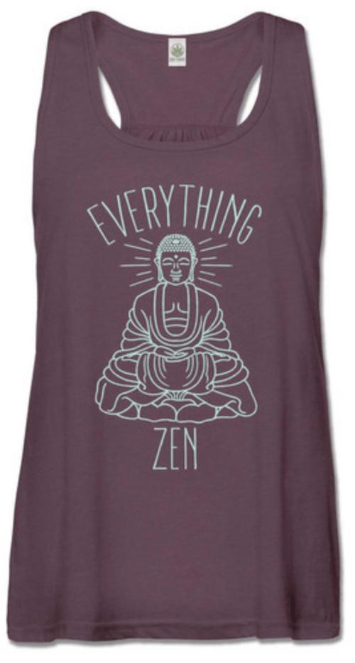 Everything Zen Recycled Racerback Tank