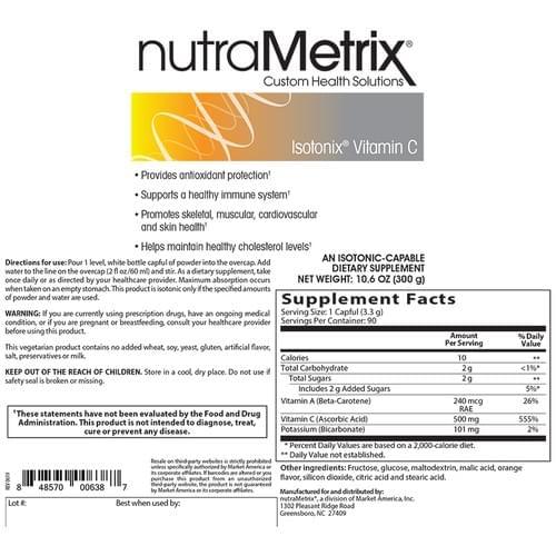 nutraMetrix Vitamin C - 90 Servings