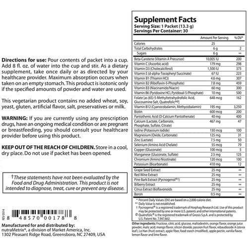 nutraMetrix Isontonix Daily Essentials Packets (without iron)