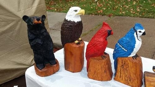 2' Foot tall Bear/Eagle/Parrot/Bluebird
