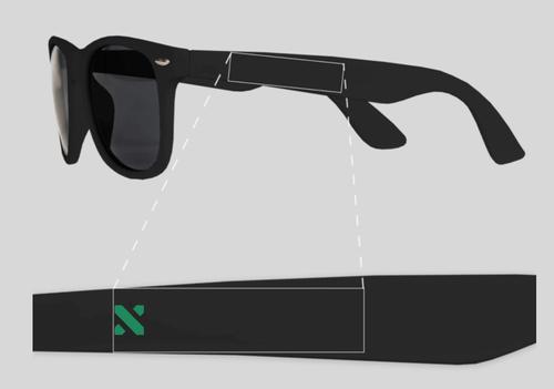 Sun Ray Sunglasses Color: Black