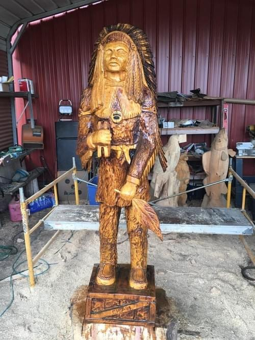8' Tall Cigar Store Indian
