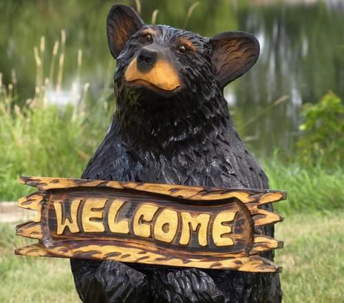 4' Welcome Bear