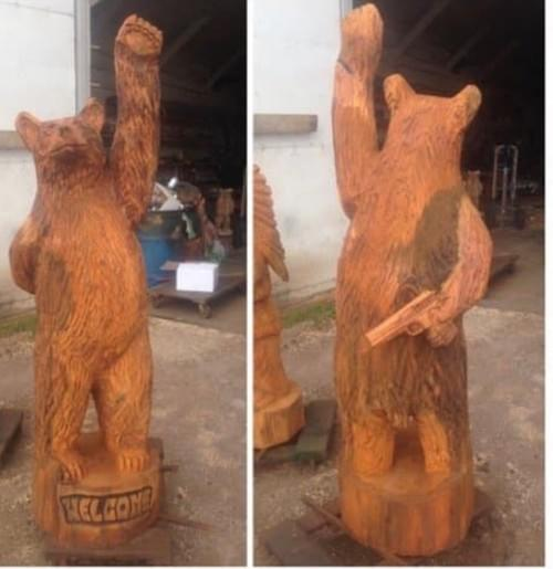 4' Gun Bear - Painted or Natural