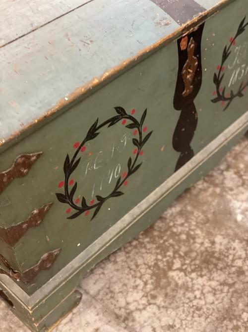 Antique Vintage Wooden Chest