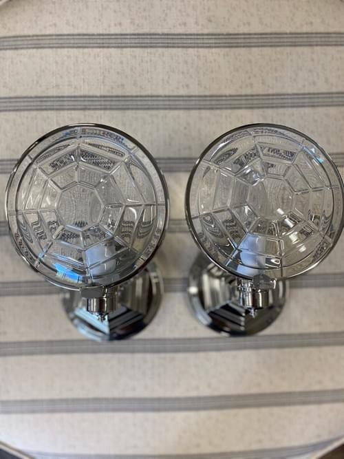 Baccarat Spider Sconces Designed by Michael Smith (Pair)