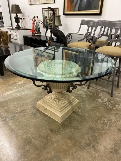 Glass Round Entry, Dining, Kitchen Table