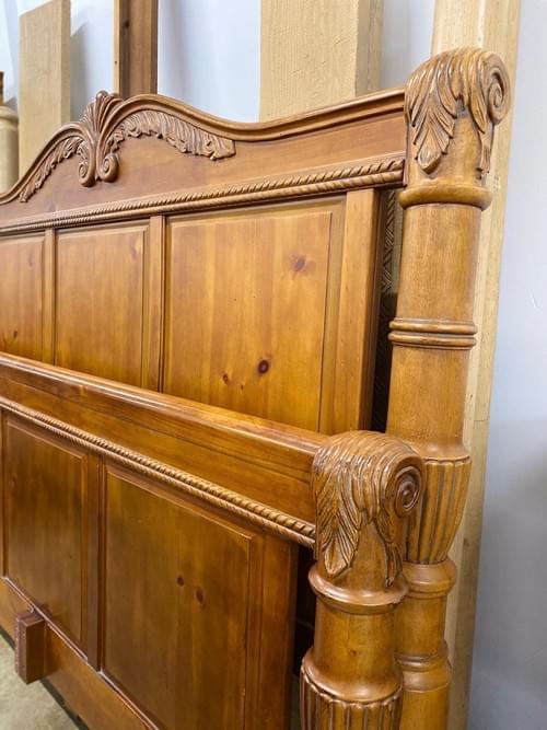 Standard King Handcarved Oak Bedframe
