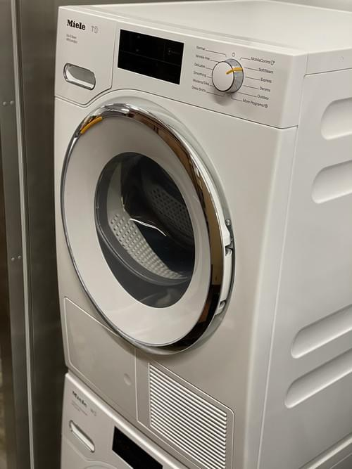 """Miele 24"""" Stackable Washer & Dryer"""