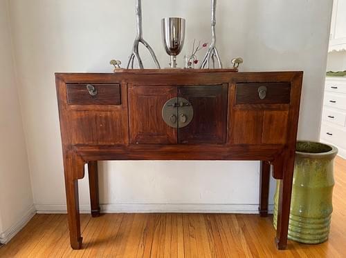 Antique Japanese Tall Buffet / Sideboard
