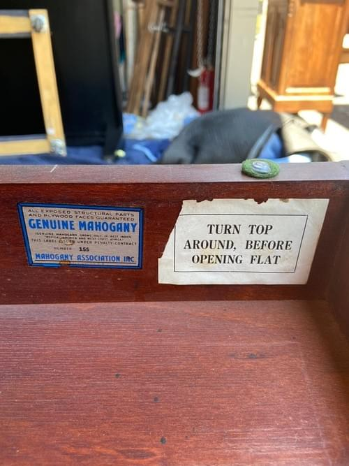 Antique Genuine Mahogany Game Table