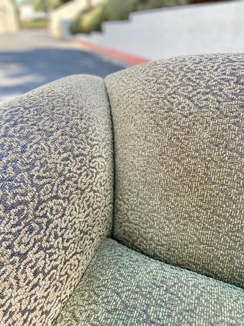 Olive Patterned Loveseat Chair