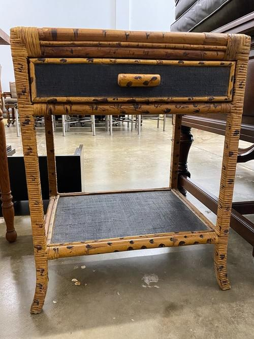Boho Side Table Cabinet Nightstand