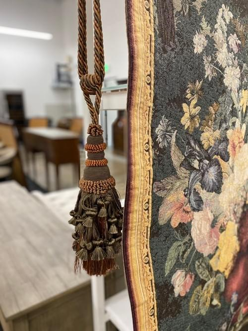 Bouquet Tapestry with Iron Rod