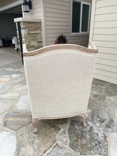 Restoration Hardware Lorraine Burnt Oak Arm Chair