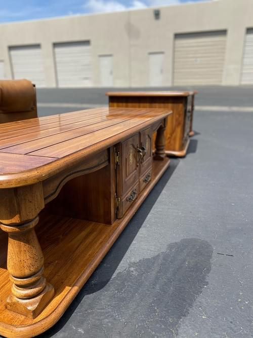 Vintage Coffee Table and 2 Side Tables