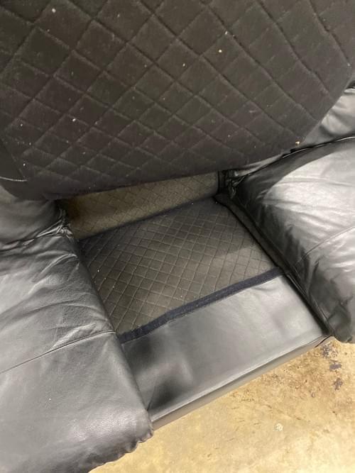 C & D Italia Black Leather Low Lounger Sofa
