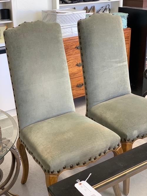 Pair of Pottery Barn Armless Chairs