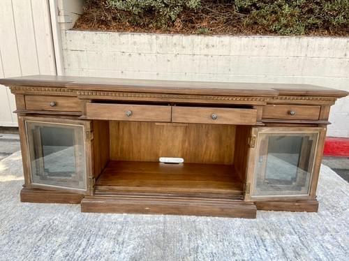 "Restoration Hardware St. James Glass 80"" Media Console"