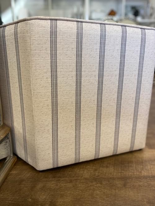 Designer Striped Ottoman