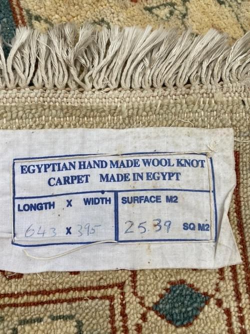 12' x 21' Custom Hand Made Egyptian Wool Rug