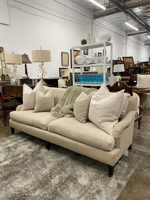 Crate & Barrel Essex Sofa with Casters
