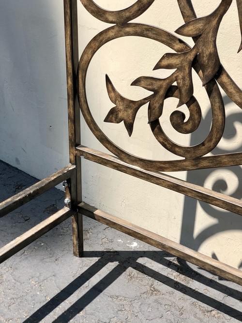 Distressed Metal Cali King Bed Frame