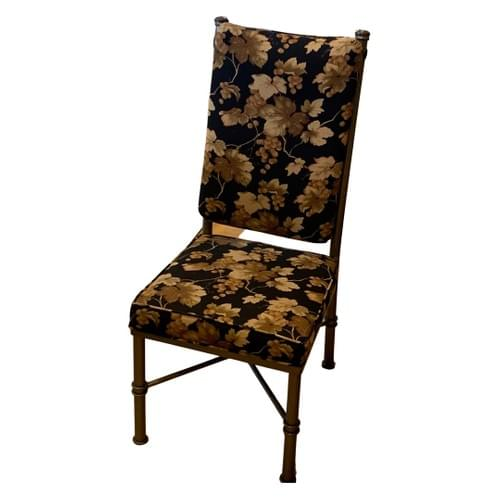 Floral Printed Wrought Iron Dining Kitchen Chairs (Set of 7)