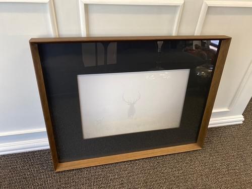 Framed Leftbank Las Vegas Elk in Fog Wall Art