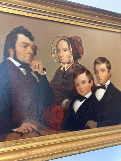 Oil on Canvas Painting •Portrait of Family