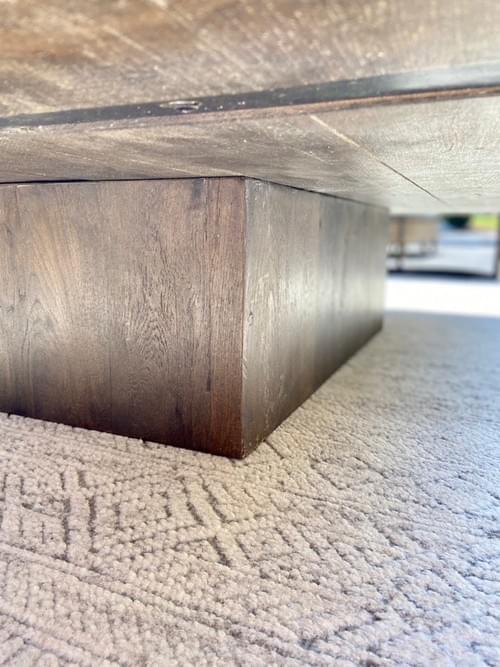 Restoration Hardware Reclaimed Russian Oak Plinth Coffee Table