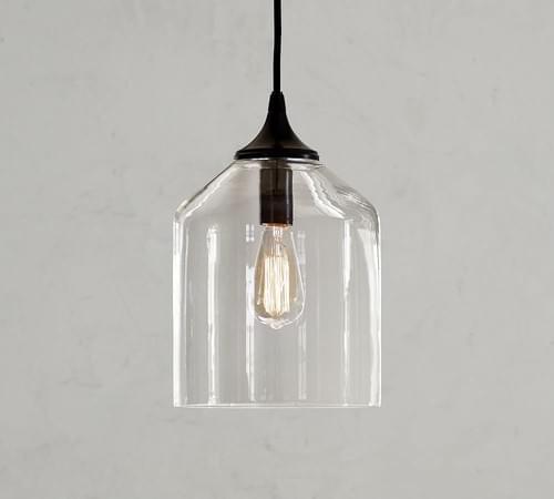 Pottery Barn City Glass Pendant Light