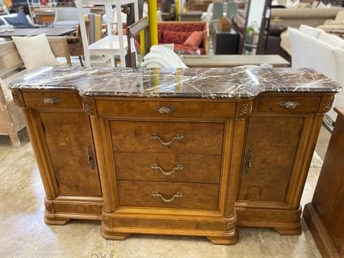 American Drew Buffet Cadenza With Marble Top