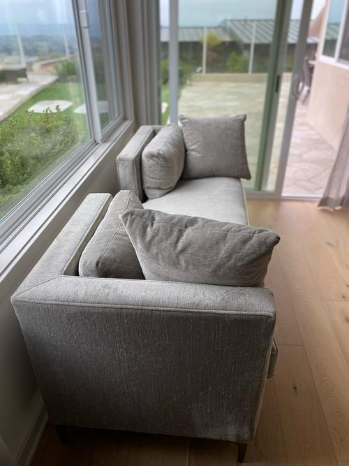 Living Spaces Gray Chaise Lounger Settee