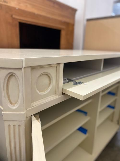High End Media Console Off White