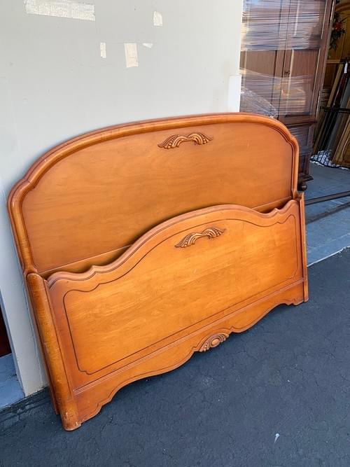 Full Size Golden Oak Bed Frame (Headboard, Footboard & Siding)