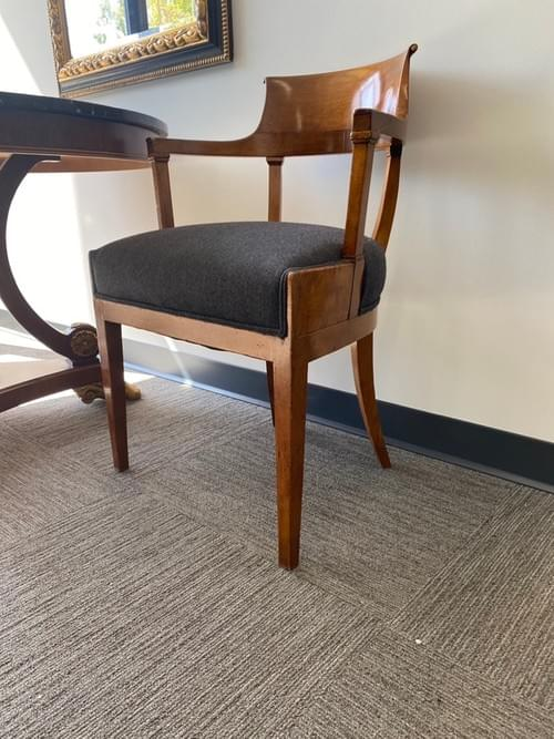 High Arms, High End Designer Arm Chair