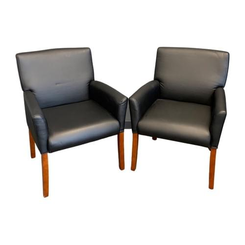Leather Desk Office Chair (Pair)